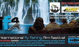 Promo graphic for International Fly Fishing Film Festiv...