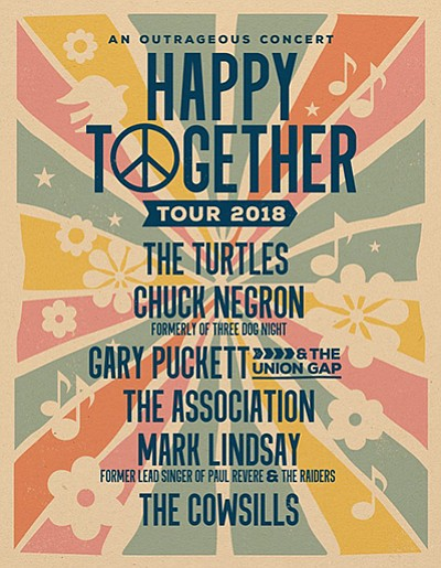 Promotional flyer for the Happy Together tour. Courtesy o...
