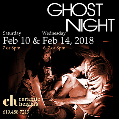 Promotional graphic for Ghost Night. Courtesy of Ceramic ...