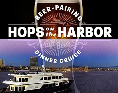 Promotional graphic for Beer Pairing Hops on the Harbor D...