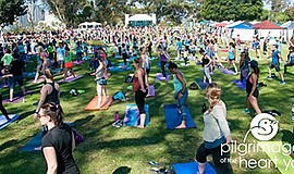 Photo from last year's Festival of Yoga. Courtesy of Pilg...