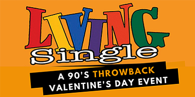 Promotional graphic for the '90s Valentine's Day event. C...