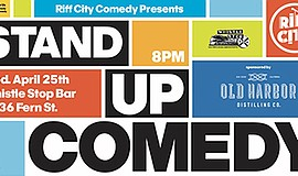 Promo graphic for Stand-up Comedy At Whistle Stop Bar