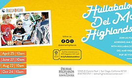 Promo graphic for Hullabaloo at Del Mar Highlands