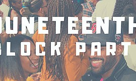 Promo graphic for Juneteenth Block Party