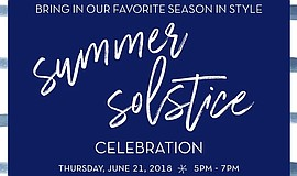 Promo graphic for Summer Solstice Celebration By Four S...