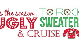 Promotional graphic for the Ugly Sweater Cocktail Cruise....