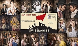 Promo graphic for JCompany Presents 'Les Misérables'