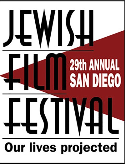 Promotional graphic for San Diego Jewish Film Festival. C...