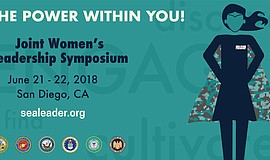 Promo graphic for 2018 Joint Women's Leadership Symposium