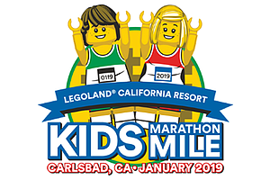 Promotional graphic for the Kids Marathon Mile. Courtesy of LEGOLAND California.