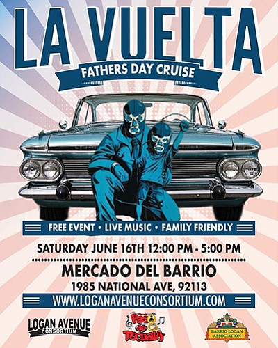 Promotional flyer for La Vuelta Father's Day Cruise. Cour...
