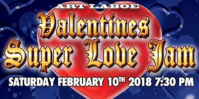 A promotional poster for Super Love Jam, courtesy of Vall...