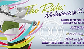 Promo graphic for The Ride: Malashock @ 30