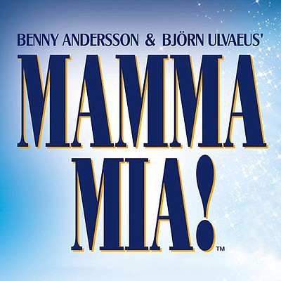 """A promotional graphic for """"Mamma Mia!"""" courtesy of Moonli..."""
