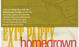 A promotional poster for Exit Party, courtesy of MCASD.