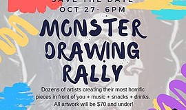 A promotional poster for Monster Drawing Rally, courtesy ...