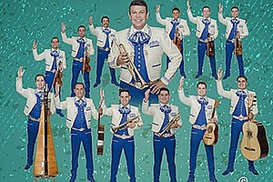 A promotional photo of Mariachi Sol de Mexico.