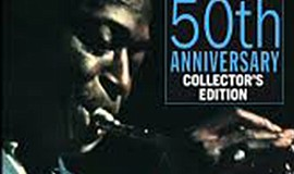 "A photo of Miles Davis' ""Kind of Blue"" album, courtesy of..."