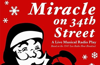 """A promotional poster for """"Miracle on 34th Street,"""" courte..."""