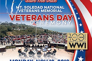 Promotional poster for the Veterans Day ceremony. Courtesy of the Mt. Soledad...