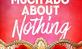 """A promotional poster for """"Much Ado About Nothing,"""" courte..."""