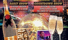 Promotional graphic for The Comedy Palace NYE 2019 Show. ...