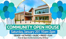 Promo graphic for Community Open House At The Dan McKin...