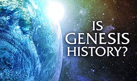 "Promo graphic for ""Is Genesis History?"" One Year Annive..."