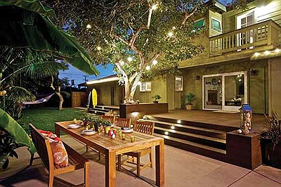 Solana Beach outdoor living space. Promotional photo cour...