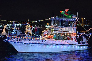 Promotional photo courtesy of the San Diego Bay Parade of Lights.