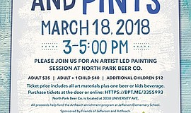 Promo graphic for Painting And Pints
