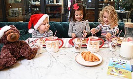 Photo from last year's Pancakes & Pajamas Holiday Brunch....