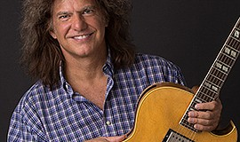 A promotional photo of Pat Metheny, courtesy of San Diego...