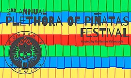 Promo graphic for Plethora Of Pinatas Festival