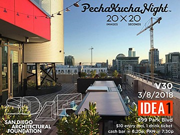 A promotional photo for PechaKucha, courtesy of SDAF.
