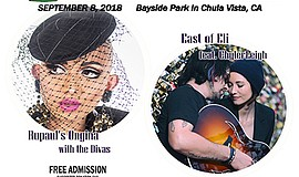 Promotional graphic for the South Bay Pride Art And Music...
