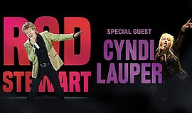 Promotional flyer for Rod Stewart and Cyndi Lauper tour. ...