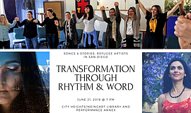 Promo graphic for Transformation Through Rhythm & Word