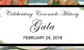Promo graphic for Celebrating Coronado History Gala