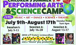 Promo graphic for Children's Summer Performing Arts & S...