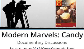 Promo graphic for Modern Marvels 'Candy': Documentary D...