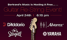 Promo graphic for Guitar Restring & Recycle Event