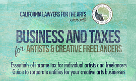 Promo graphic for Taxes & Business For Artists & Creati...
