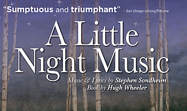 Promo graphic for 'A Little Night Music'