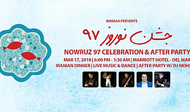Promo graphic for Nowruz 97 Celebration & After Party