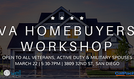 Promo graphic for VA Homebuyers Workshop