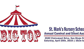 Promo graphic for Under The Big Top! St. Mark's Nursery...