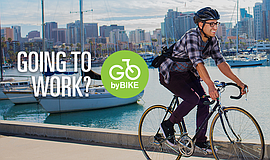 Promo graphic for GO By Bike Central Avenue Bikeway Pro...