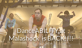 Promo graphic for Malashock Dance: DanceABILITY